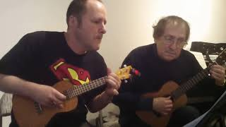 First video of ukulele duet from forthcoming book