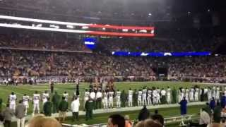 Joey McIntyre singing the National Anthem at Gillette Stadium