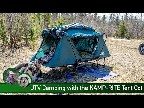 UTV Camping with the KAMP-RITE Tent Cot