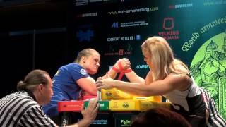 WORLD ARMWRESTLING CHAMPIONSHIP 2014 HEIDI ANDERSSON - OLGA SHLIZHEVSKAYA