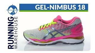 Asics GEL Nimbus 18 Women's Running Shoe video