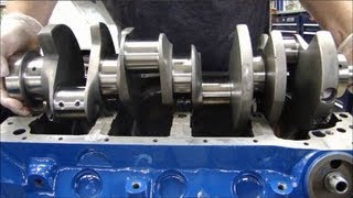 Installing Engine Crankshaft