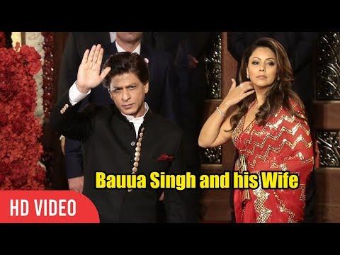 Shahrukh Khan and Gauri Khan Royal Entry @Mukesh Ambani's Daughter Isha Ambani WEDDING Reception