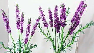 Мастер класс (авторский) Лаванда из бисера Часть 1 Соцветия Бисероплетение. Beaded lavender tutorial