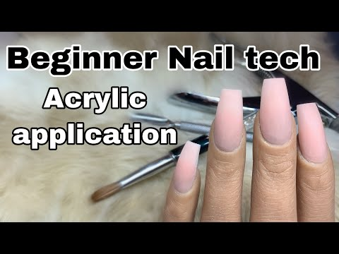Beginner Nail Tech Tutorial | How To: Acrylic Application