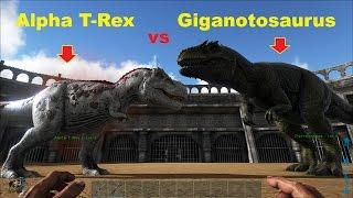 ARK: Survival Evolved - Giganotosaurus vs. Alpha T-Rex, bên nào sẽ thắng? =))