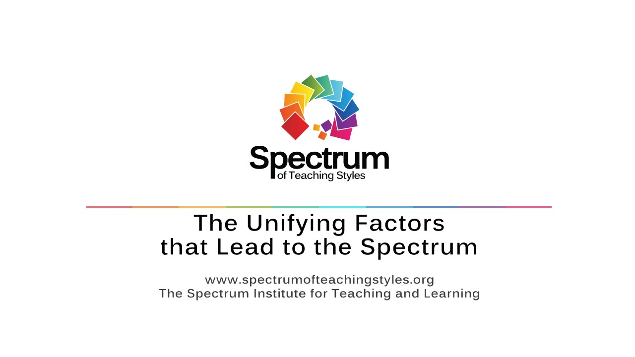 The Unifying Factors that Lead to the Spectrum's thumbnail