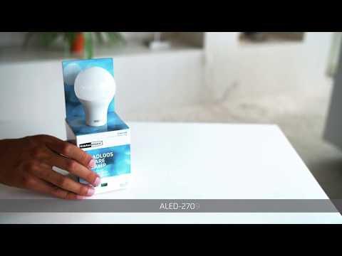KlikAanKlikUit LED Lamp Draadloos Dimbaar E27 9W Classic ALED-2709