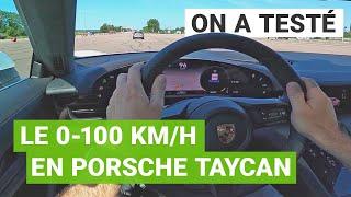 Porsche TAYCAN Turbo : le 0-100 km/h au péage