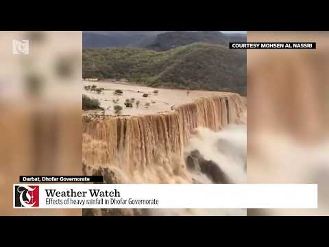 Weather Watch: Effects of heavy rainfall in Dhofar Governorate