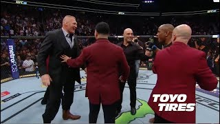 UFC 226: Daniel Cormier and Brock Lesnar Octagon Interviews