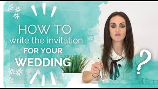 How to write the invitation for your wedding 🖋