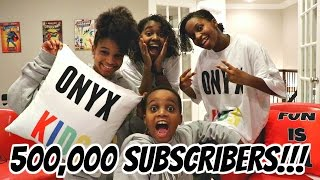 500,000 Subscriber LIVE STREAM PARTY! - Shiloh, Shasha, Shalom, Sinead - Onyx Kids