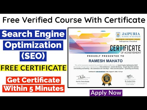 SEO Free Certification Course | Search Engine Optimization | Free Certificate