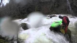 Kayaking Log Jam Pin & Rescue Eagle Creek Estacada, OR