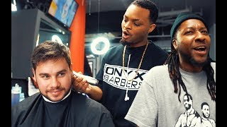 Farting In a Black Barbershop Prank!