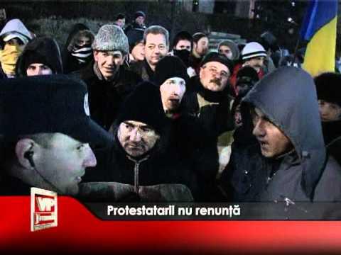 Protestatarii nu renunță