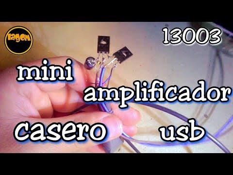amplificador de audio casero usb