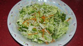 Салат с пекинской капусты и кольраби. Легкий и вкусный.