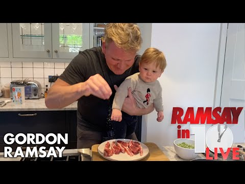 Whilst in isolation, Gordon Ramsay's daughters film him cooking - constantly telling him how their Mum cooks better.