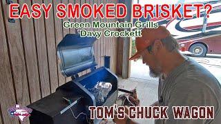 Easy Smoked Brisket!   Green Mountain Grills Davy Crockett Portable Pellet Grill