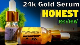 24k Gold SERUM Honest Review for Glowing & Skincare - Spa in a Bottle Urdu Hindi