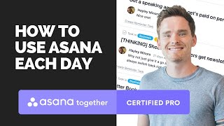 How to use Asana throughout the day
