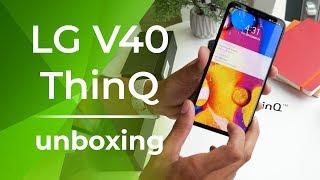 LG V40 ThinQ Unboxing: Triple the cameras, triple the fun