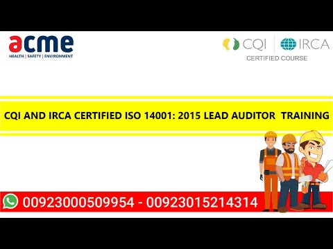 ISO 14001 Environmental Management System (EMS) Lead Auditor ...