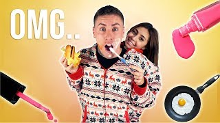 MY GIRLFRIEND AND I SHARED A ONESIE FOR 24 HOURS!!! (HILARIOUS)