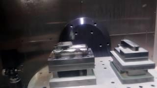 CNC MACHINE 5AXIS HAAS UMC750 SET WORK