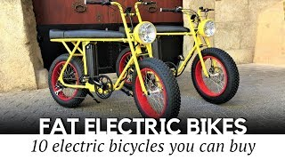 12 New Electric Bicycles with Fat Tires Perfect for City and Offroad Biking