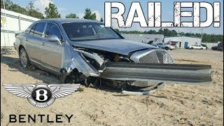 This $300,000 Bentley Ran THROUGH A Guardrail & It's Still STUCK In the Car!
