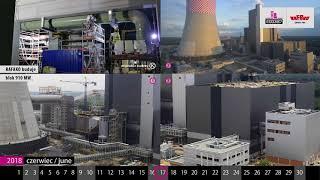 Kalendarz Budowy blok 910MW w Jaworznie czerwiec 2018