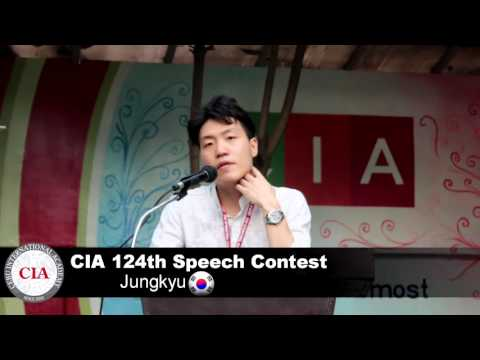 (English School in Cebu, Philippines ) Cebu International Academy- 124th Speech Contest (Jungkyu)