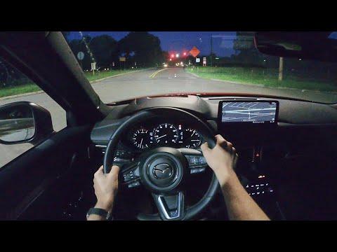 2021 Mazda CX-5 Signature - POV Night Drive (Binaural Audio)