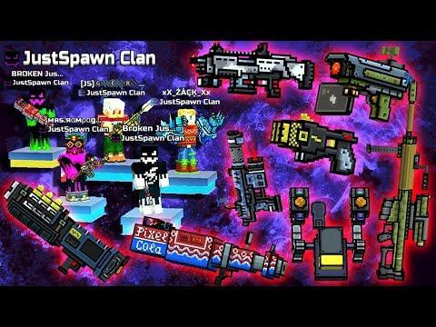 Pixel Gun 3D - NEW WEAPONS Gameplay / JustSpawn CLAN