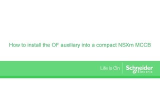 How to install an OF contact into an NSXm