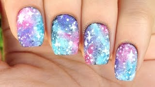 Nail Art Tutorial: Easy Pastel Galaxy Print (perfect For Beginners!)