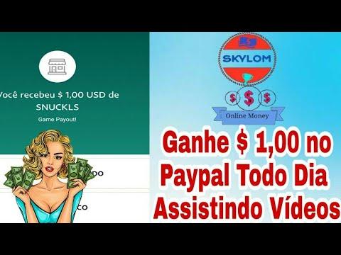 SKYLOM!! Como Ganhar $ 1,00 Todos os dias no Paypal Assistindo Vídeos no YOUTUBE