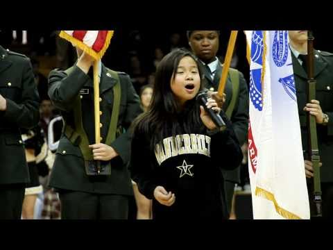 Star Spangled Banner / National Anthem - 9 year old Dominique Dy / NCAA Men's Basketball 2011