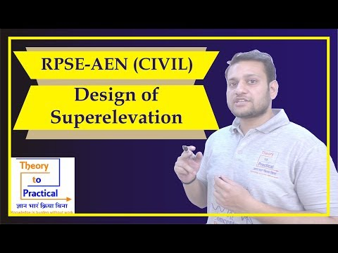 DESIGN OF SUPERELEVATION