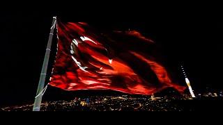 Istanbul Çamlıca Hill Flag FPV Cinematic 4K