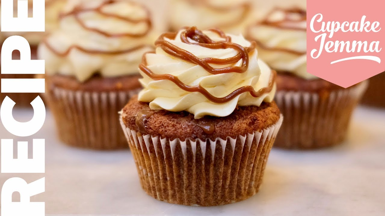 My NEW FAVOURITE CUPCAKES Sticky Toffee Pudding and Custard Cupcake Recipe  Cupcake Jemma