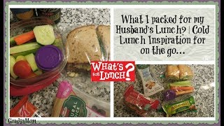 What's For Lunch? | Cold Lunch Ideas on the Go | School or Work