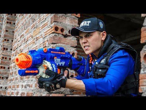 LTT Game Nerf War : Winter Warriors SEAL X Nerf Guns Fight Criminal Group Rocket Intruder Clever