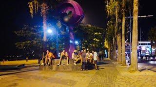 Pattaya Beach Night Walk after 8pm on Feb 14, 2021