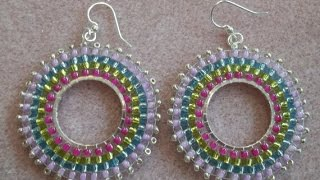 Circular Brick Stitch Earrings