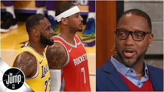 What LeBron James' dinner with Carmelo Anthony means, according to Tracy McGrady | The Jump