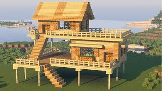 Minecraft How To Build The Best Starter Survival House Tutorial Easy Minecraftvideos Tv